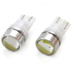 Žiarovka LED 1,5W T10 12V biela s optickou šošovkou 2 ks