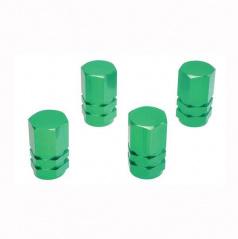 Čiapočky na ventilky zelené 4ks