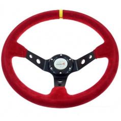 Športový volant WRC Rally II červený 350 mm