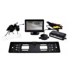 Parkovací systém s TFT 11 cm kamerou + 4 bílé senzory
