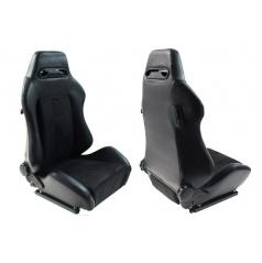 Sportovní polohovatelná sedačka A1 RACING R černá