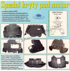 KRYT MOTORU SPODNÍ LANCIA MUSA 2004-2009 DIESEL 1,9JTD CF4V 74kW 100CV