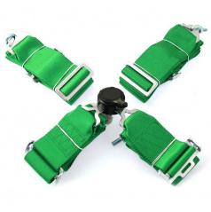 4-bodový bezpečnostný pás 75 mm zelený