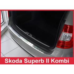 Nerez kryt- ochrana prahu zadného nárazníku Škoda Superb II kombi 2013-15