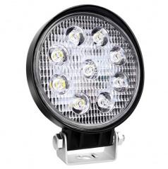 Svetlo pracovné okrúhle 9 LED 110x110 m 35W FLAT 9-36V