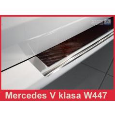 Nerez kryt-ochrana prahu zadního nárazníku Mercedes V W447 2014+