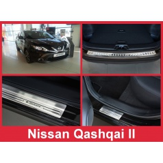 Nerez kryt- sestava-ochrana prahu zadního nárazníku+ochranné lišty prahu dveří Nissan Qashqai II 2013-16