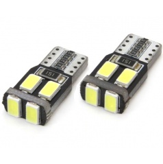 Žiarovky 6 SMD-2 5730 T10 (W5W) 12V biela CAN-BUS