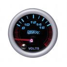 Prídavný budík Race Sport voltmeter 52 mm čierny
