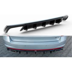 Vložka zadného nárazníka ver.2 pre Škoda Octavia RS Mk3, Maxton Design (čierny lesklý plast ABS) pre dieselové motory