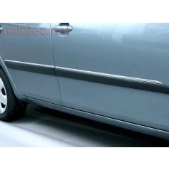 Bočné ozdobné lišty, ušľachtilá oceľ, Škoda Roomster