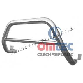 """VW T4 1996-03 - nerez chrom přední ochranný rám """" basic""""  - OMTEC"""