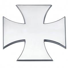 Znak -Maltézký Kríž - chróm prevedenie s podlepením 65x65 mm