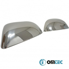 Nerez ochranné kryty zrcátek OMTEC Škoda Octavia II Facelift, Superb II