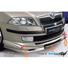 Škoda Octavia II Spoiler pod predný spoiler - pre lak