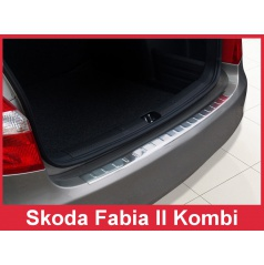 Nerez kryt- ochrana prahu zadného nárazníka Škoda Fabia II kombi 2007-16
