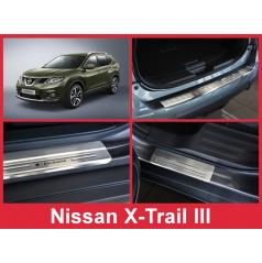 Nerez kryt- sestava-ochrana prahu zadního nárazníku+ochranné lišty prahu dveří Nissan X-Trail III 2014-17