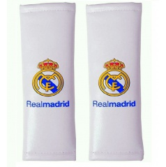 Originální návleky na pásy REAL MADRID bílé (dětské kratší na zadní sedačky)