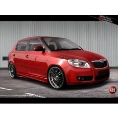 Bočné prahy pre Škoda Fabia Mk2, Maxton Design (plast ABS bez povrchovej úpravy)