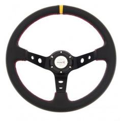 Športový volant čierny karbón Y 350 mm