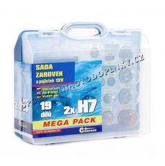 Žiarovky náhradné 12V servisný box Mega H7 + H7 + poistky