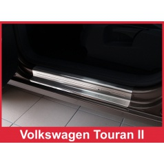 Nerez ochranné lišty prahu dveří 4ks Volkswagen Touran 2 2006-16