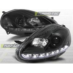 Fiat Grande Punto 2005-09 predné číra LED svetlá daylight black (LPFI06)