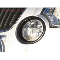 Škoda Yeti - rámčeky hmlových svetiel - ABS čierna metalíza