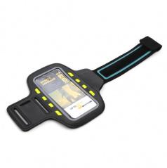 Elegantný reflexný držiak smartphonu na paži 8 LED čierny