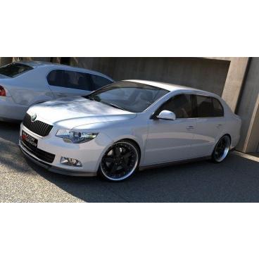 Spoiler pod predný nárazník pre Škoda Superb Mk2, Maxton Design (čierny lesklý plast ABS)