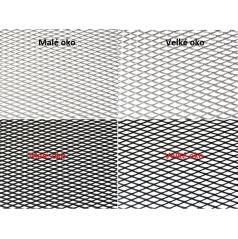 Alu mriežky Tahokov 100x25 cm, malé alebo veľké oká, rôzne farby