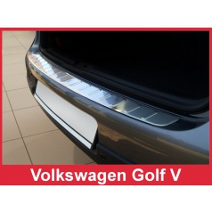 Nerez kryt- ochrana prahu zadního nárazníku Volkswagen Golf V 2003-08