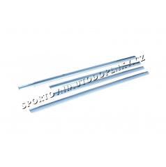 Ford Fusion 03-09 - nerez chróm spodné lišty okien - Omsa Line