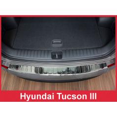 Nerez kryt- ochrana prahu zadního nárazníku Hyundai Tuscon 3 2015+