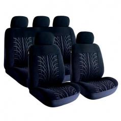Športové poťahy sedadiel sivé 8-dielna sada