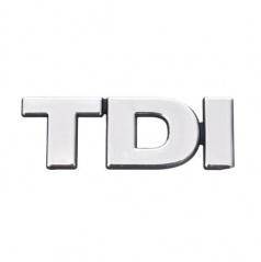 Chróm samolepiace logo TDI