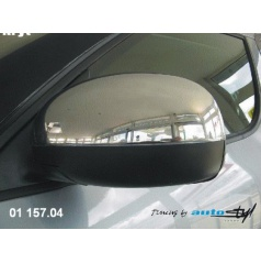 Kryty spätných zrkadiel chróm Škoda Fabia II