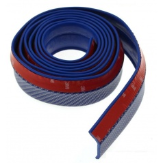 Univerzálny spodný pružný lip s podlepením modrý karbón vzor