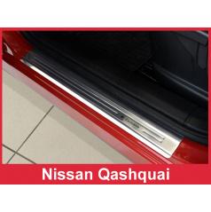 Nerez ochranné lišty prahu dveří 4ks Nissan Qashqai 2007-13