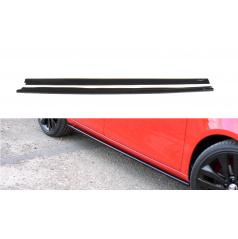 Difúzory pod bočné prahy pre Škoda Fabia RS Mk2, Maxton Design (čierny lesklý plast ABS)