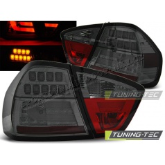 BMW E90 03.2005-08.2008 zadné LED lampy smoke BAR (LDBM75)
