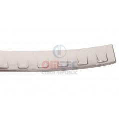 Superb III Combi - Nerez ochranný panel zadného nárazníka RS6 Brushed - Omtec