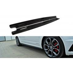 Difúzory pod bočné prahy pre Škoda Octavia RS Facelift Mk3, Maxton Design (čierny lesklý plast ABS)