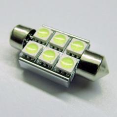 Žiarovka 6 LED SMD sulfit 42 mm biele 12V CAN-BUS - 1 ks