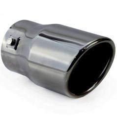 Sportovní nerez koncovka výfuku gunmetal 76 mm