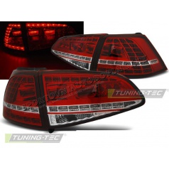 VW Golf 7 2013 zadné lampy red white LED GTI Look (LDVWG0)