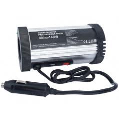 Adaptér napětí (z 12 na 230V 160W) + USB 1A