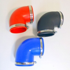 Univerzálne silikónové kolená 90 stupňov 70 a 77 mm