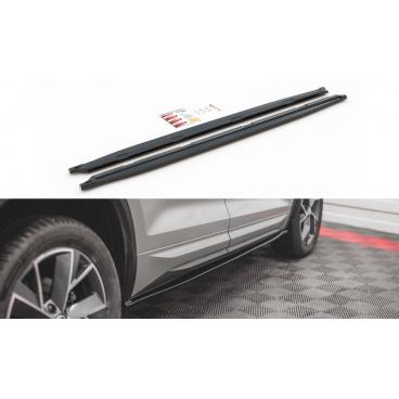Difúzory pod bočné prahy pre Škoda KodiaQ Sportline, Maxton Design (plast ABS bez povrchovej úpravy)