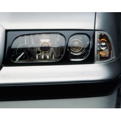 Kryty svetlometov Milotec (masky) - ABS karbon, Škoda Octavia I